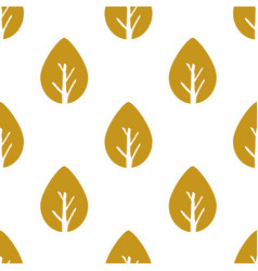 Seamless foliage pattern gold leaf vector