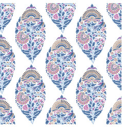 Seamless pattern with floral decoration vector