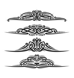 Set of black page dividers vector