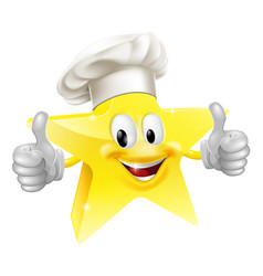 Star chef mascot vector