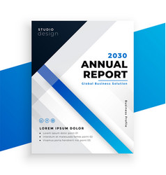 stylish blue annual report business brochure vector image