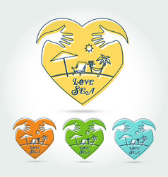 summer logo on white background vector image