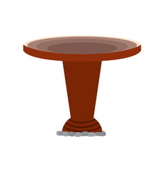 Traditional baptismal font vector