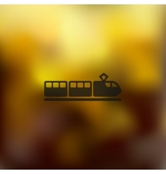 train icon on blurred background vector image