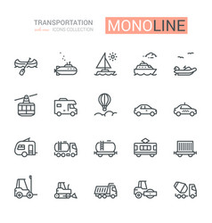 Transportation icons side view part ii vector