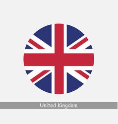 uk round circle flag vector image