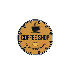 vintage coffee shop coffee cup logo inspiration vector image