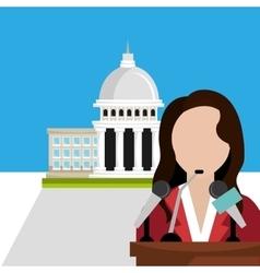 Vote and politician campaign vector image