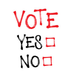 Vote yes or no make your choice vector