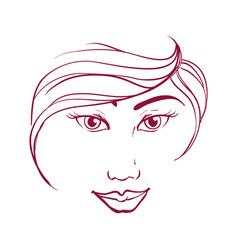 Women head silhouette vector