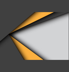 yellow black arrow overlap on gray blank space vector image
