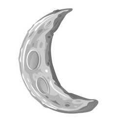 young crescent moon cartoon vector image