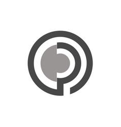 circle letter p logo vector image