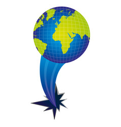 earth planet with hole icon vector image