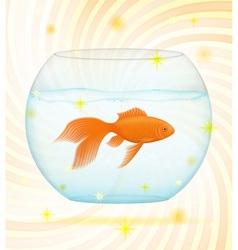 Gold fish 02 vector