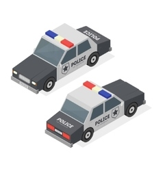 Police Car Isometric View vector image