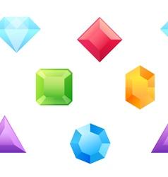 Precious gems seamless pattern vector image
