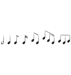 The musical notes vector image vector image