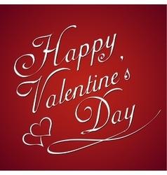 valentines day vintage lettering background vector image vector image