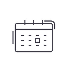 calendar line icon sign on vector image