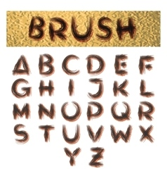Handmade Brush Alphabet vector image vector image