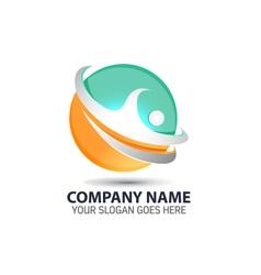 Human Technology Element Logo Icon vector image vector image