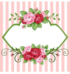 roses vintage vector image vector image