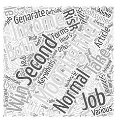 Genarate a second income by moonlighting word vector
