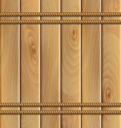 rope and a wooden background vector image