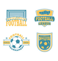 soccer badge set vector image vector image