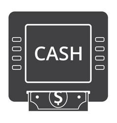 Cash machine icon vector