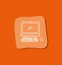 computer technology scribble vector image
