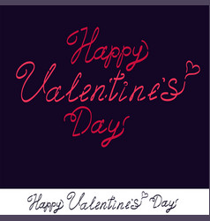 happy valentine s day handwritten text for vector image vector image