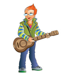 male guitarist vector image vector image