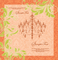 wedding card vector image vector image