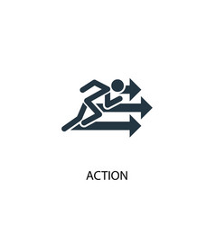 action icon simple element action vector image