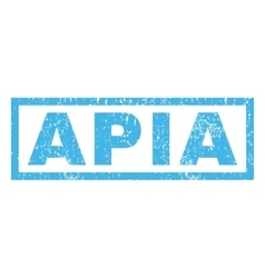 APIa Rubber Stamp vector