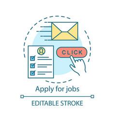 Apply for jobs concept icon work search idea thin vector