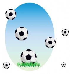 Balls on a grass vector