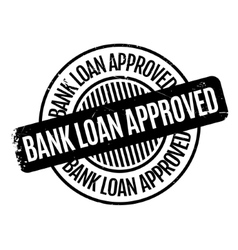 Bank Loan Approved rubber stamp vector