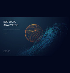 big data analytics abstract background 3d vector image