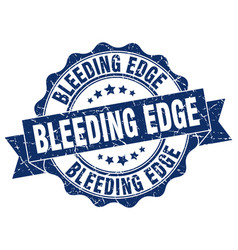 Bleeding edge stamp sign seal vector