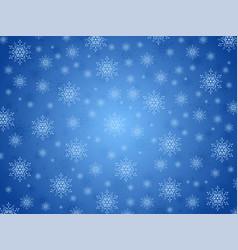 blue backgrouund snowflakes vector image