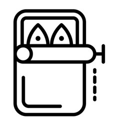 Canned fish icon outline style vector