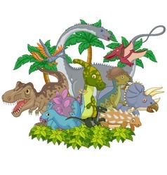 Cartoon animal dinosaur vector