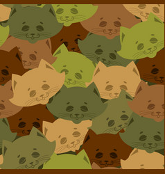 Cat army pattern home pet military background vector