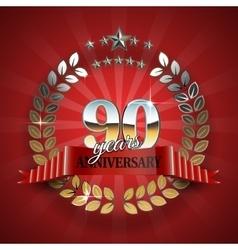Celebration golden frame for 90th anniversary vector
