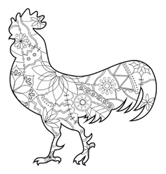 Cock coloring vector