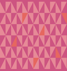 contemporary small pink and coral triangles vector image