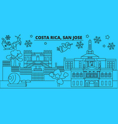 costa rica san jose winter holidays skyline vector image
